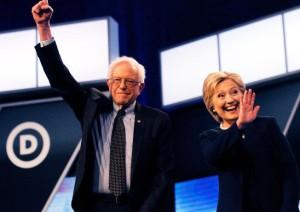 Bernie-Saunders-Hilary-Clinton