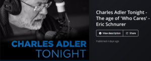 Charles Adler Tonight Eric Schnurer